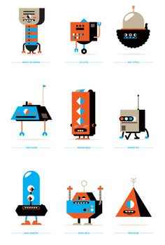 Robots! by Loulou and Tummie , via Behance