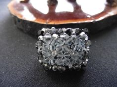 Elegant ring with CRYSTALLIZED Swarovski by attractivedesigns