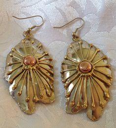 Brutalist Half Shell Earrings Vintage by TwentiethCenturyRose, $42.00