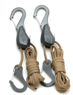 Particle by Symbiote 054020 Rope Lock Tie Down with 6' of 550 Paracord and Snap Hooks - Pair by Progrip. $10.44. This patented device uses specially designed ribs to lock the rope inside the wheel hub and is easily tightened with one hand. The ratchet feature on the wheel set lock the rope and prevents unwanted tension loss. A simple thumb operated release trigger disengages the ratchet lock to unwind, when you desire.