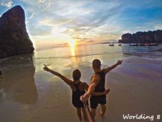 sunset en Ton Sai, enamorados de las puestas tailandesas