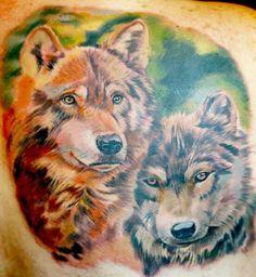 Wolf mates tattoo