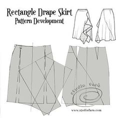 For this post you have an elegant Drape Skirt that can be cut from a basic skirt block or any pencil skirt pattern. I've included some interesting seaming that works well with the drap Drape Skirt Pattern, Skirt Patterns Sewing, Clothing Patterns, Bodice Pattern, Skirt Sewing, Sleeve Pattern, Collar Pattern, Coat Patterns, Blouse Patterns