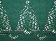 What to do with Monks Cloth: Christmas Tree Embroidered Throw Blanket