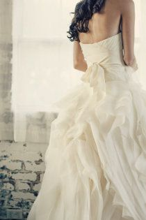 I wish I could have another wedding.  I would marry my husband again, but gosh I love wedding dresses!