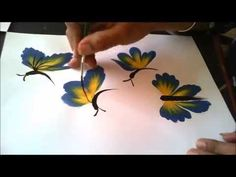 Ideas butterfly art painting flowers one stroke Butterfly Painting, One Stroke Painting, Butterfly Art, Painting Videos, Painting Lessons, Tole Painting, Painting Tips, Painting Flowers, Painting Techniques