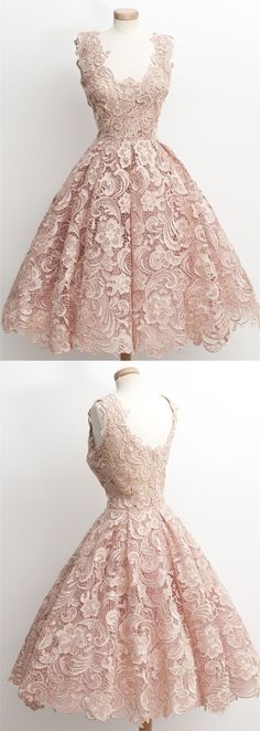 Ball Gown,Pearl Pink Dress,Lace Dress,Hoco Dress,Short Prom Dresses,Homecoming Dresses Short,Homecoming Dresses 2K17,Dresses For Teens