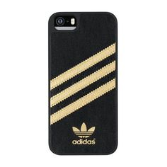 Adidas Moulded Case for Apple iPhone 5/5S Black/Gold ($15) ❤ liked on Polyvore featuring accessories, tech accessories, phone cases and adidas