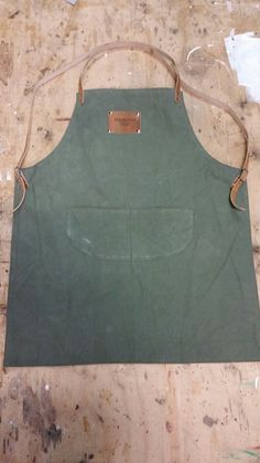 custom made apron. from Old army tent and leather Army Tent, Custom Made, Apron, Leather, Fashion, Moda, Fashion Styles, Pinafore Apron, Fashion Illustrations