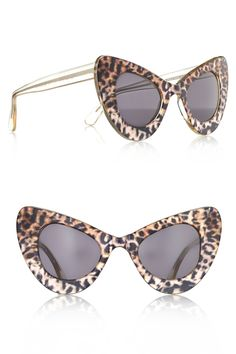 Illesteva X Zac Posen Safari Cat-eye Sunglasses