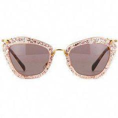 6d5641ef6c5c Miu Miu Noir Pink Glitter Sunglasses  MiuMiu