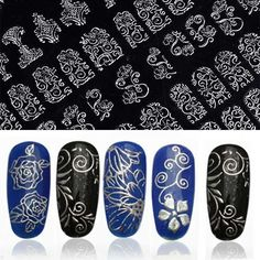 1Pack/108 PCS High Quality Adhesive 3D Nail Art Stickers Decals For Nail Tips Decoration Tool Hot Stamping Flower Design Large alishoppbrasil