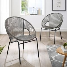Corvus Sarcelles Woven Wicker Patio Chairs (Set of (Grey), Gray(Metal), Outdoor Seating Garden Furniture Inspiration, Garden Furniture Design, Pool Furniture, Best Outdoor Furniture, Furniture Styles, Furniture Decor, Furniture Layout, Industrial Furniture, Furniture Projects