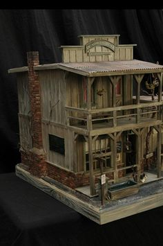 "Third Place ""Deadwood Stage at Chugwater Station""  by Roy Simpson Lubbock, TX https://www.facebook.com/DollhouseMiniatures"