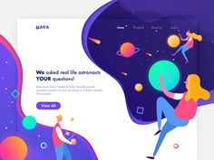 NASA Web Design 🌍🚀 designed by Amiko for Reborn Design. Connect with them on Dribbble; the global community for designers and creative professionals. Portfolio Web Design, Web Design Tips, Best Web Design, App Design, Branding Design, Flat Design, Logo Design, Design Ideas, Landing Page Inspiration