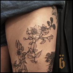 #BRÜCIUS #TATTOO @blkserum + bruciustattoo.com  + #Blackwork #Tattooing  #SanFrancisco #blkserum #etching  #onlyblackart #engraving #nature #tattoo #flowers #insect #queenanneslace #hellebore #arumlily #blackberry #callalilly