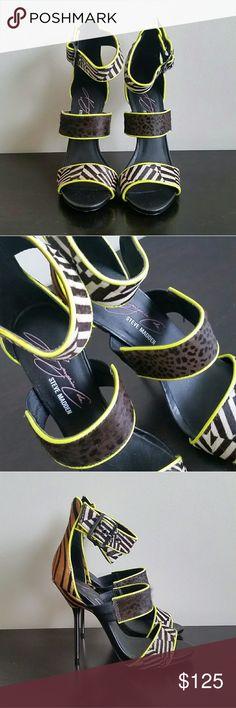 6db19d85418 STEVE MADDEN - KEYSHIA COLE Telme shoes - Size 6.5 Stylish neon pop party  shoes for