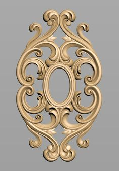 A678 Wood Carving Designs, Wood Carving Art, Thermocol Craft, Cement Art, Baroque Pattern, Ornaments Design, Indian Home Decor, 3d Max, Machine Design