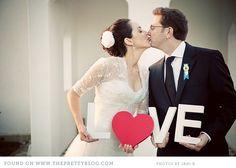 LOVE wedding props