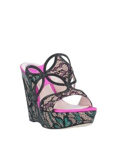 Rene' Caovilla Sandals - Women Rene' Caovilla Sandals online on YOOX United States - Sandals Online, Rene Caovilla, Pop Up Stores, Sportswear Brand, Wedge Heels, Soft Leather, Bag Accessories, Shopping Bag, Shoes Sandals