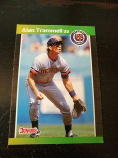 Alan Trammell ~ Detroit Tigers ~ 1988  Dunruss Baseball card #Topps