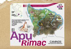 """Caminos de Cultura y Aventura - Mapa anexo a """"El Apu Rímac en Quechua"""""""