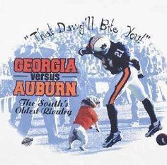Georgia Bulldogs Mascot Logo 1997 Hairy Dawg Mascot