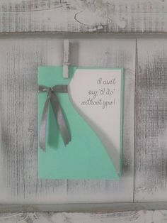 Will You Be My Bridesmaid // Bridesmaid Proposal // I Can't Say I Do Without You