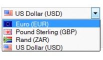 Currency Select Box