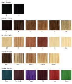 Elegant Milky Way Hair Color Chart