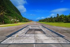 Airport runway at Ofu Island American Samoa