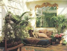 I would love to do this to my xtra room w windows make it a garden room to relax