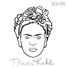 Dibujos Frida Kahlo Para Colorear Búsqueda De Google En