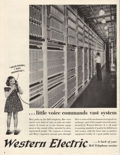 1941 Western Electric Bell Telephone print ad Complex Network array shown