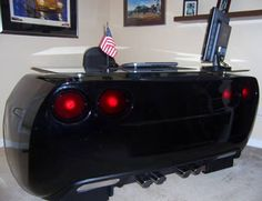 Corvette-inspired desk is a must-have for anyone who loves cars media gallery. featuring 4 corvette-inspired desk is a must-have for anyone who loves (. Car Furniture, Automotive Furniture, Unique Furniture, Automotive Decor, Furniture Design, Used Car Parts, Used Cars, Geek Desk, Cool Office Desk