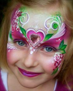 Kleurrijk masker, bloemen