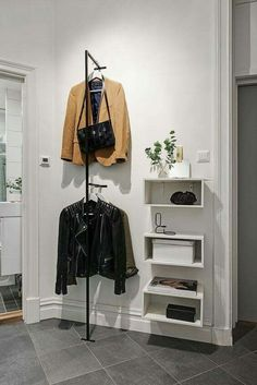 Favorite Studio Apartment Storage Decor Ideas And Remodel - master closet left side wall - Hallway Inspiration, Interior Inspiration, Small Apartments, Small Spaces, Small Rooms, Scandinavian Apartment, Scandinavian House, Gravity Home, Studio Apartment
