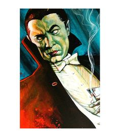 Lowbrow Art Company Dracula Bat Man art print by artist Mike Bell. All art prints are printed are printed on heavy weight, 100lb semi gloss cover stock. All prints are individually wrapped and stamped