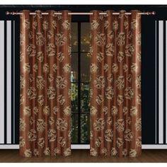 Dolce Mela Ceres Window Treatments Damask Drape Curtain Panels