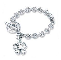 Tiffany  Co Outlet Floral Tag Toggle Bracelet