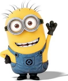 Minion waving Hi