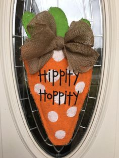 A personal favorite from my Etsy shop https://www.etsy.com/listing/254522967/orange-and-green-carrot-door-decoration