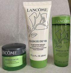 LANCOME Energie De Vie Foam CLEANSER/TONER/Water-Infused Cream Trio