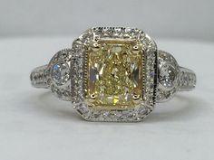 yellow diamond ring florentine ring 033