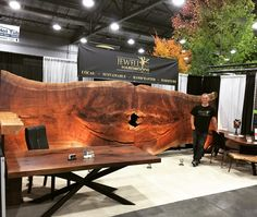 Portland Fall Home and Garden Show 2016 - Tim Layzell standing at our booth. Now Shop Jewell Hardwoods at the Spring Home and Garden show, Feb 23-26, 2017 Portland Expo Center booth 1641 by the Orchid Show in Hall D