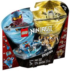 Lego Ninjago 70663 Spinjitzu Nya e Wu - Lego Lego Ninjago Spinners, Lego Ninjago Minifigures, Ninjago Lego Sets, Legos, Diy Ninja Costume, Ninjago Spinjitzu, Barbie Chelsea Doll, Spinning, Lego Building Sets