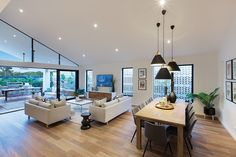 Dunedin 31 Dining room and Living room -Contemporary Home Design - Bondi interior style