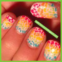 ! ★Nail Art Couture★ !: Kid's Nail Art: Rainbow Leopard