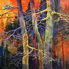 Twilight Dance by Carol Nelson Giclee print ~ 6 x 6