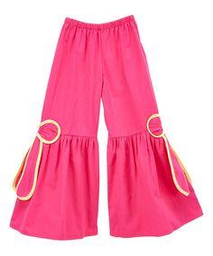 Look at this #zulilyfind! Fuchsia & Yellow Ruffle Pants - Infant & Toddler #zulilyfinds